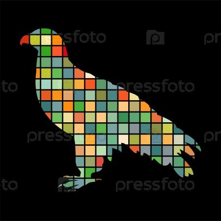 Орлан птица мозаика