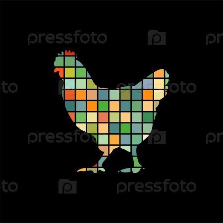 Курица птицы мозаика