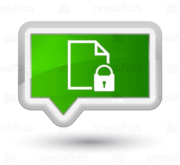 Защищенный документ значок