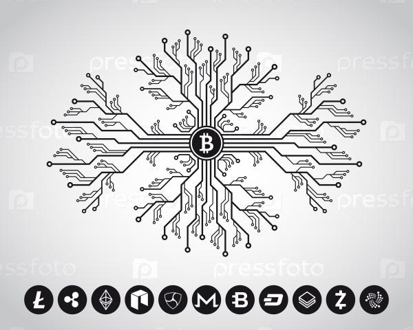Концепция дизайна для криптовалюты