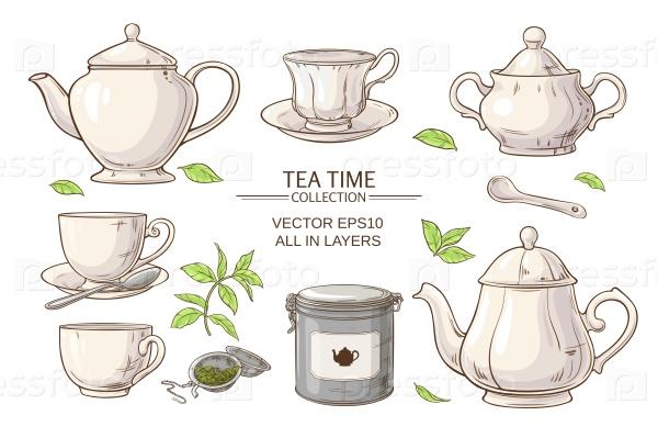 Чайные предметы набор