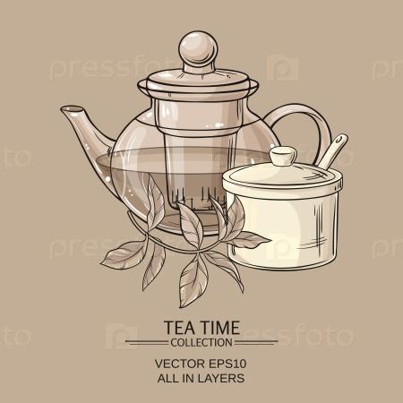 Чайник и сахарница