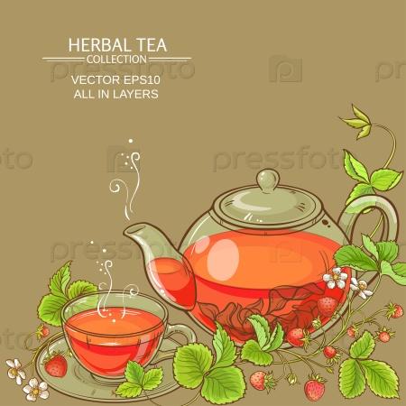 Клубничный чай и чайник
