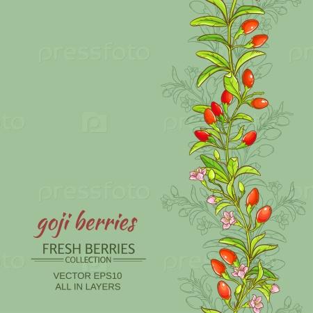 Годжи ягоды на цветном фоне