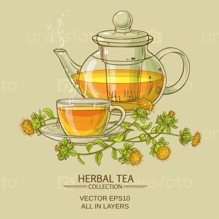 Чашка чая и сафлора