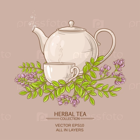 Чашка чая и астрагала