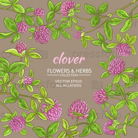 Клевер цветы на цветном фоне