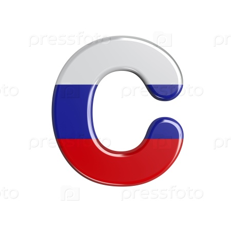 Шрифт в цветах флага России