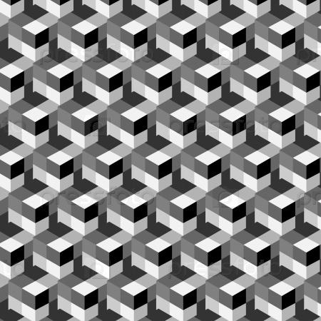 Бесшовный абстрактный узор кубы