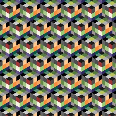 Абстрактный узор кубы