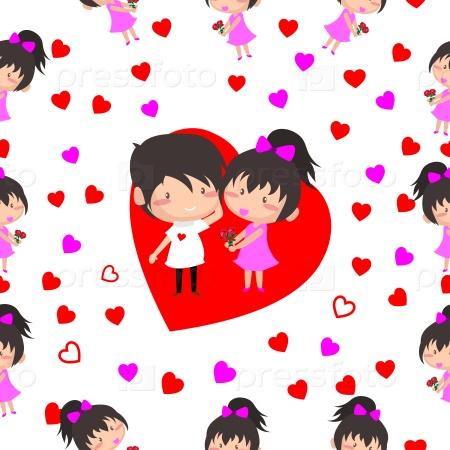 Бесшовный фон на день Валентина
