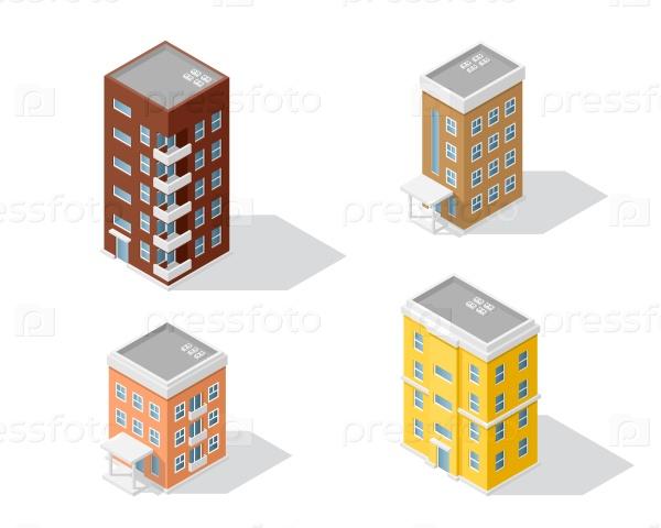 Набор жилых домов