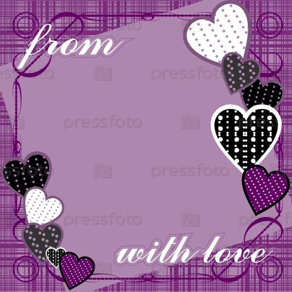 Фиолетовый фон с сердцем