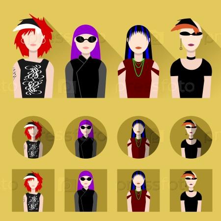 Набор женских иконок