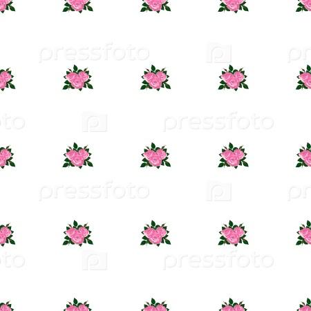 Бесшовные обои розовые розы