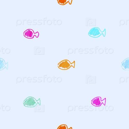 Рыбки бесшовный фон