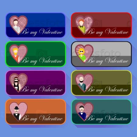 Коллекция иконок на День Святого Валентина