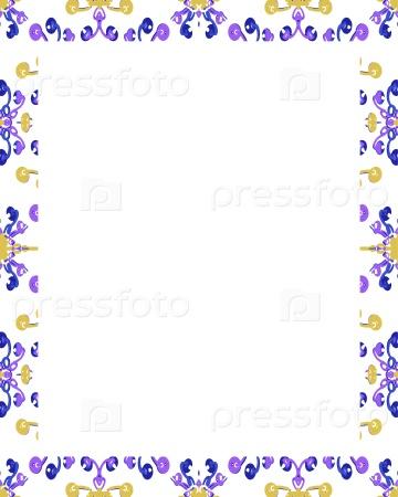 Белая рамка с декорированными границами