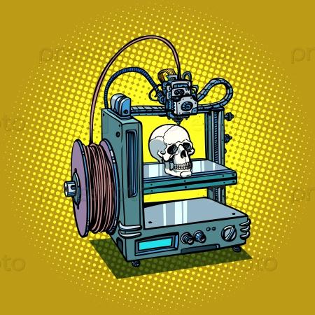Производство человеческого черепа на 3D принтере