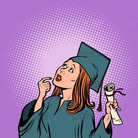 Девушка-выпускник