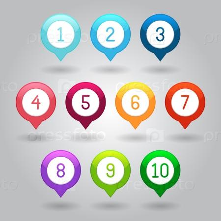 Маркеры карты с номерами