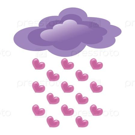 Сердечный дождь из облака