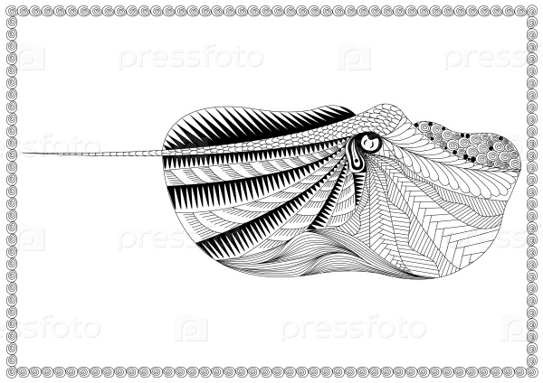Рыба скат в стиле зенарт