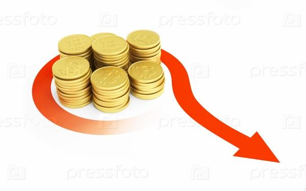 Рост биткоина, 3D концепции