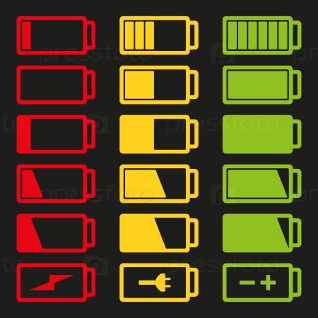 Зарядка аккумулятора значки