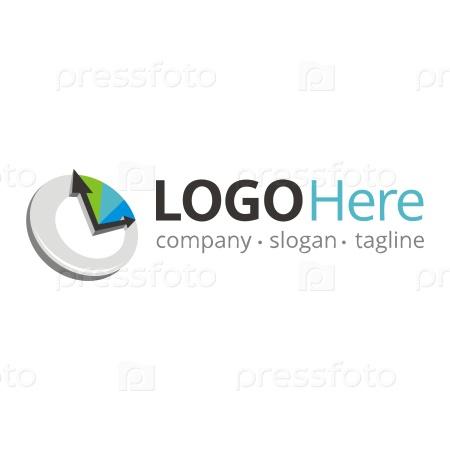 Логотип с изображением часов