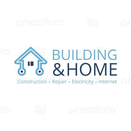 Логотип строительства, ремонта и техники