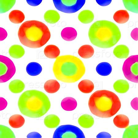 Разноцветные круги фон