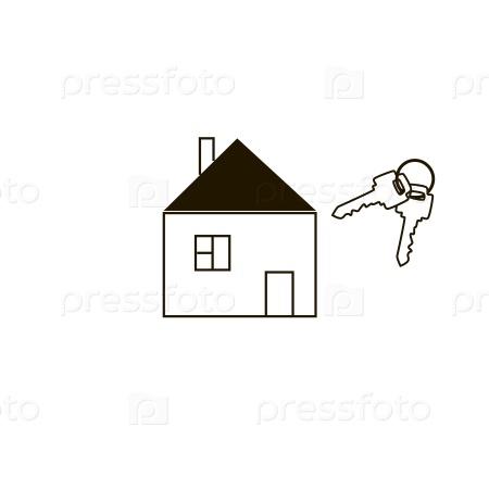Простой дом и ключи