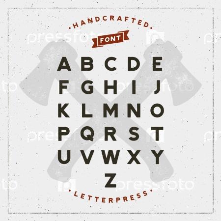 Ретро-шрифт с типографским эффектом