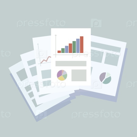 Бизнес-бумага на светло-синем фоне