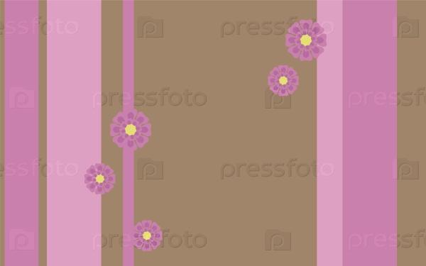 Розовый фон с милыми розовыми цветами