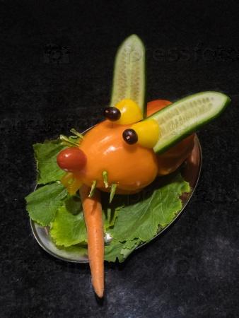 Кролик из овощей