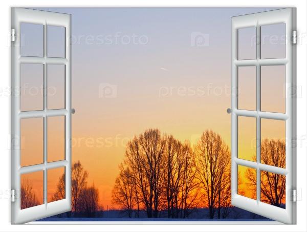 Вид из окна на закат