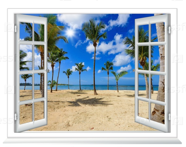 Пляж из окна