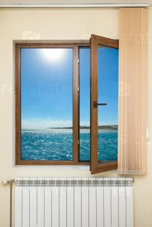 Вид на океан из окна на острове