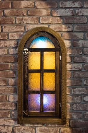 Окно стены из кирпича
