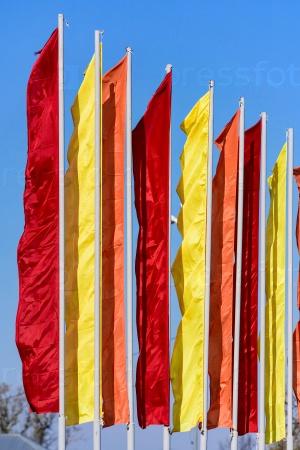 Праздничные флаги разных цветов