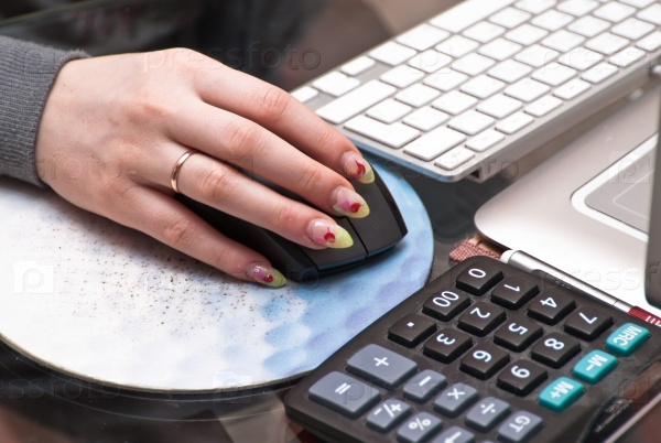 Работа на ноутбуке