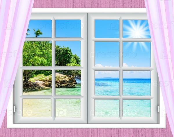 Вид на океан из окна
