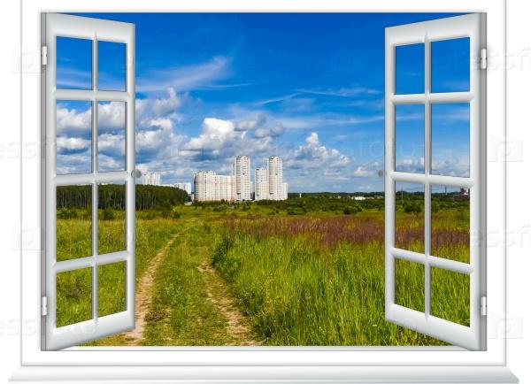 Вид из окна полевой дороги