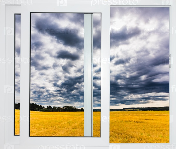 Пейзаж с видом через окно
