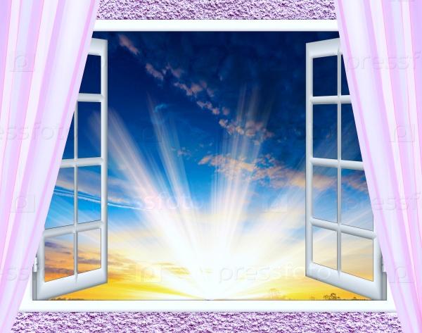 Открытое окно и облака