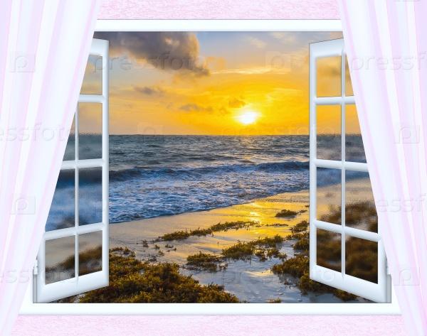 Восход солнца в окне