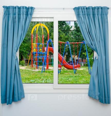 Вид площадки из окна