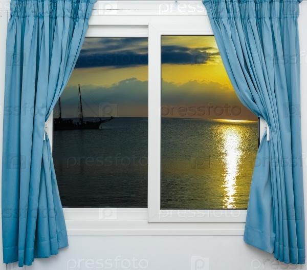 Закат из окна